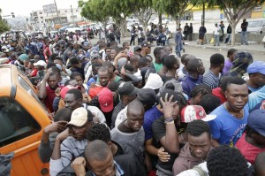 Llegada masiva de solicitantes de asilo en Mayo-2016